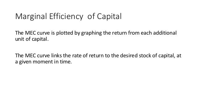 Lesson plan the marginal efficiency of capital ppt summary marginal efficiency ccuart Images