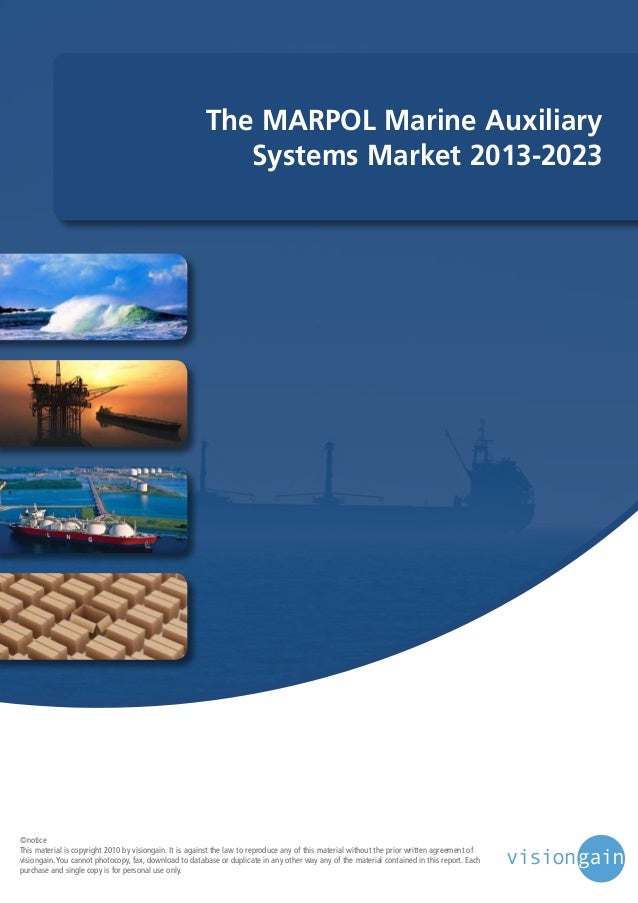 The marpol marine auxiliary systems market 2013 2023