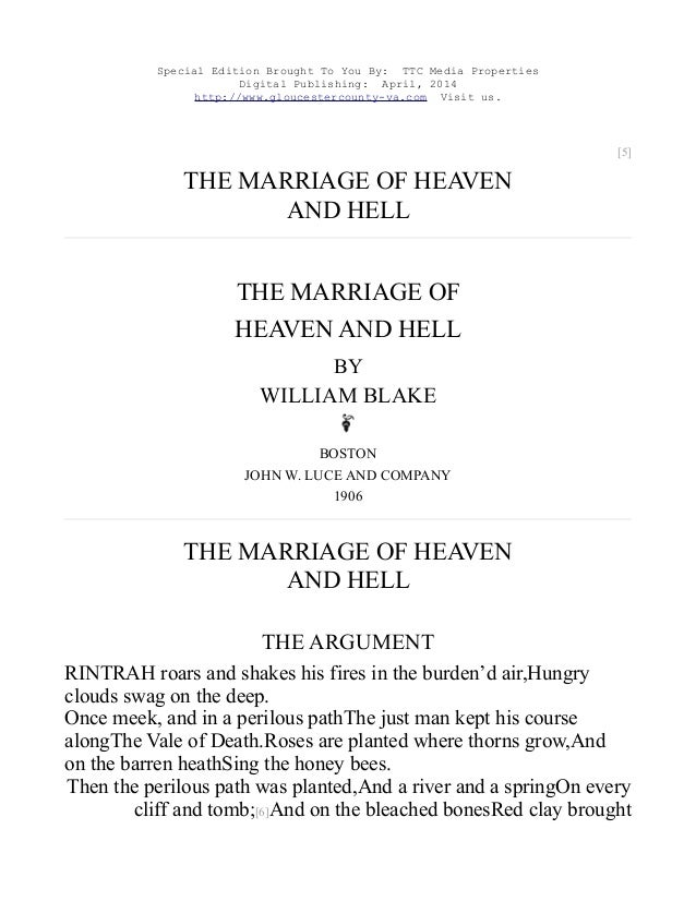 The Marriage of Heaven and Hell, Free eBook
