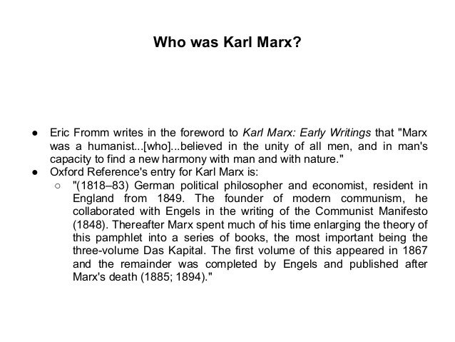 Karl marx human nature summary