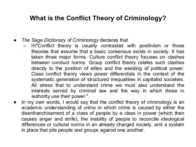 Classical Theory Of Criminology Essay