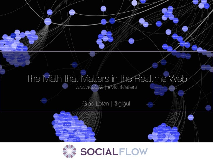 The Math that Matters in the Realtime Web            SXSW 2012 | #MathMatters              Gilad Lotan | @gilgul