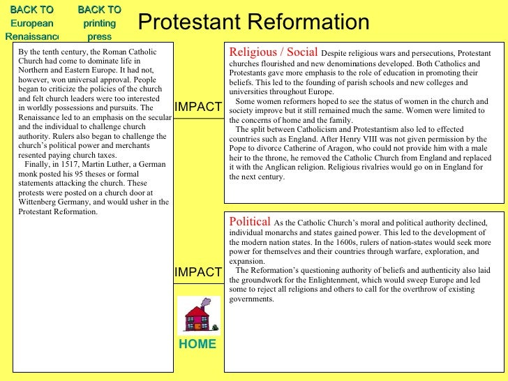 an essay on the reformation The english reformation essaysat the beginning of the 16th century, the roman  catholic church controlled a great deal of religious, political and social power.