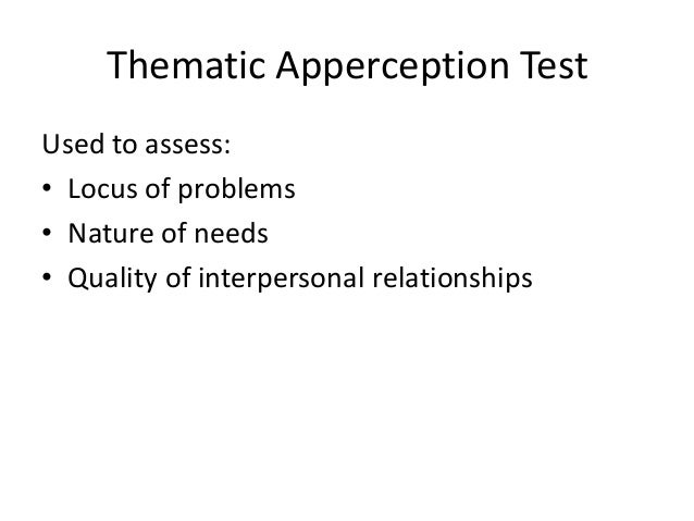 thematic apperception test notes 1 contains brief biographical notes on authors v 12 is the index name,  richard h dana thematic apperception test new yorkinternational encyclopedia of.
