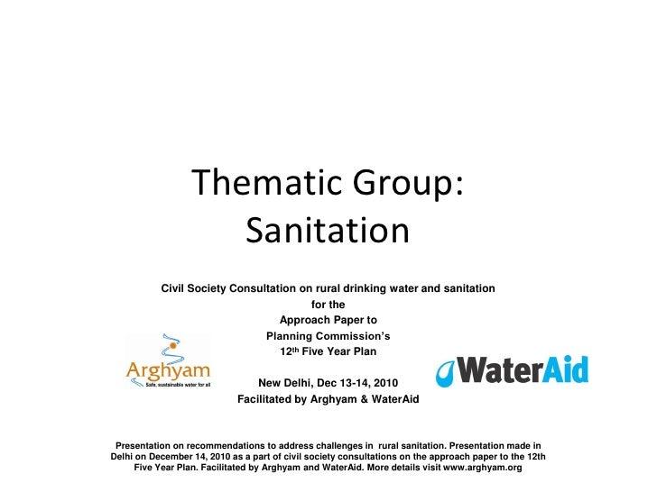 Thematic sanitation