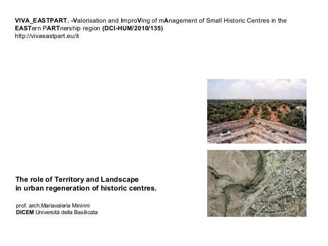 Territory - Landscape - Urban Regeneration