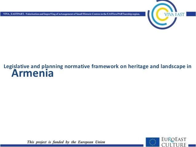 Legislative and planning framework on heritage - Armenia
