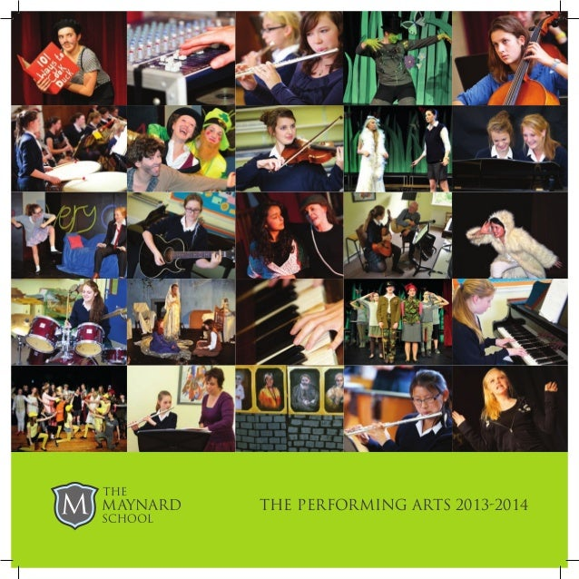 maynard school performing arts brochure