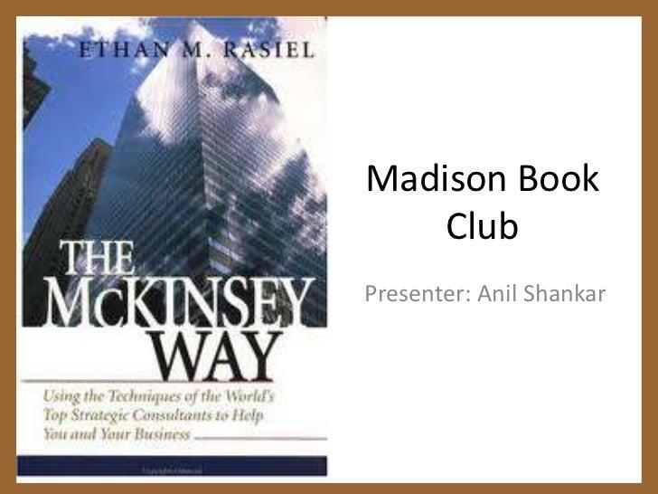 Madison Book Club <br />Presenter: Anil Shankar<br />