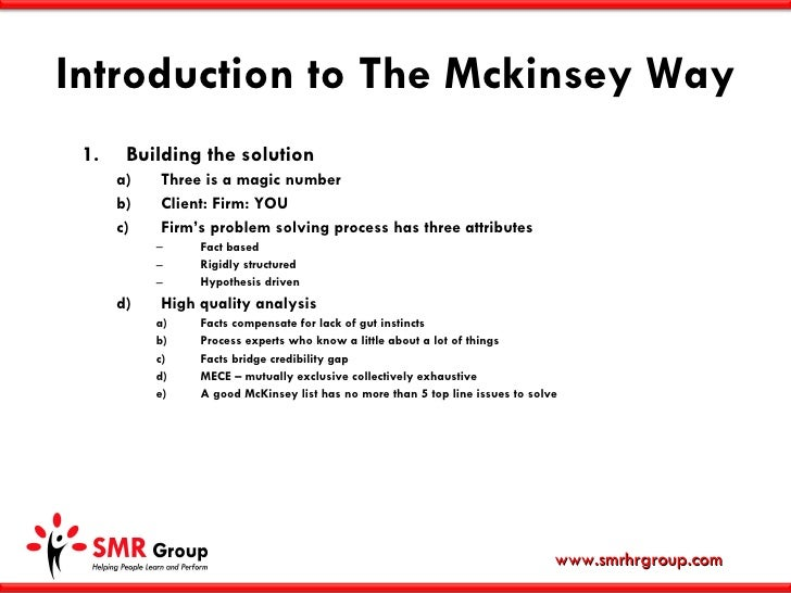 Mckinsey Approach To Problem Solving Drureport281 Web