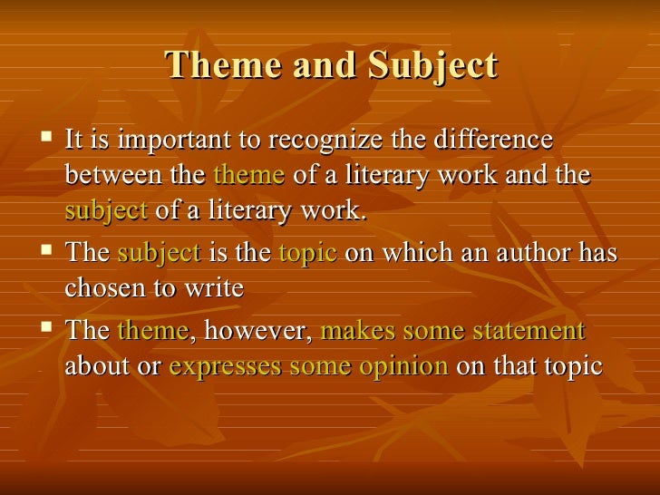 theme in literature essay Free essay: common themes in american literature common themes throughout american literature many authors contributed to american literature between 1865.