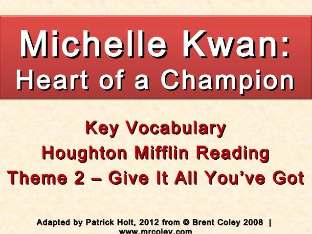 Theme 2   Michelle Kwan vocabulary 2012