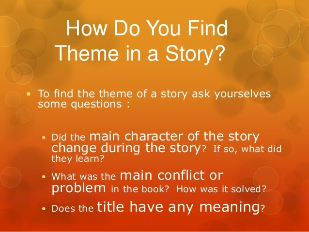 theme vs morals of a story essay