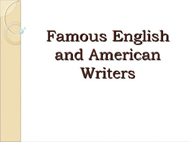 Theme 8 відомі письменники великобританії та сша