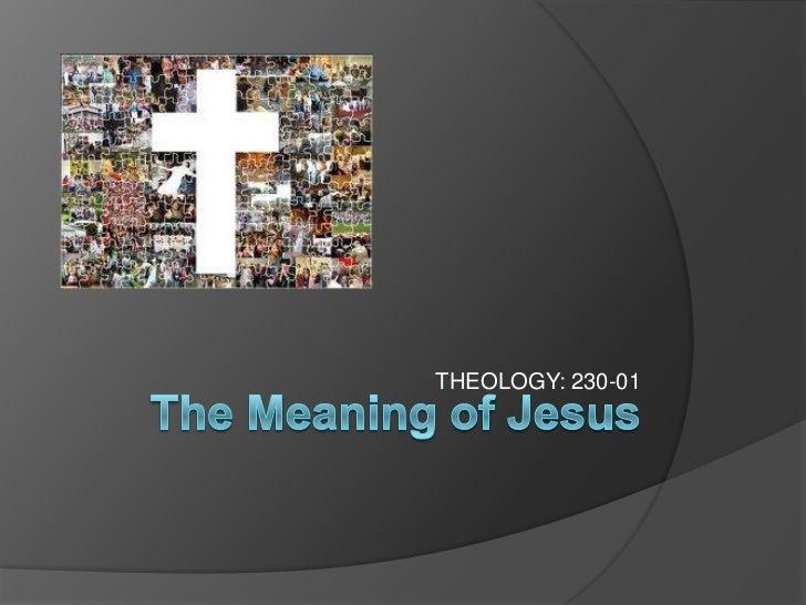 THEOLOGY: 230-01