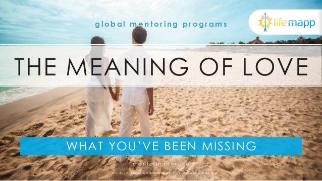 The Meaning of Love - What You're Missing