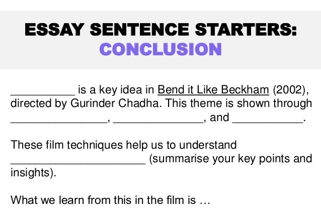 an introduction to the analysis of bend it like beckham For this assignment, to make an intersectional analysis i decided to watch a movie after searching and thinking for a while i picked the movie bend it like beckham, since a lot of elements in this movie are applicable on my own life and i really could relate to one of the characters in the [].