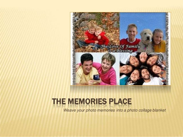 THE MEMORIES PLACEWeave your photo memories into a photo collage blanket