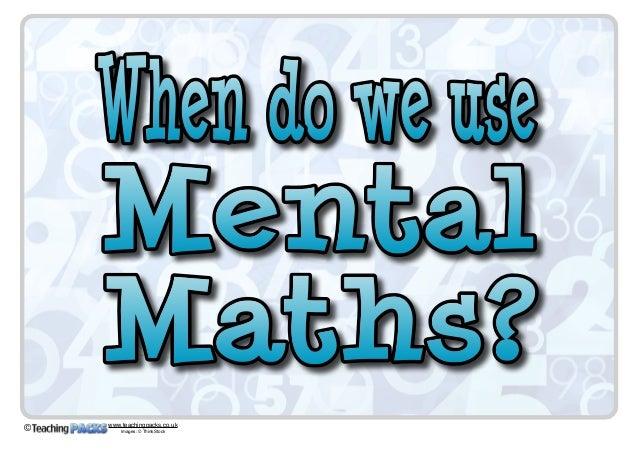 The Mental Maths Pack