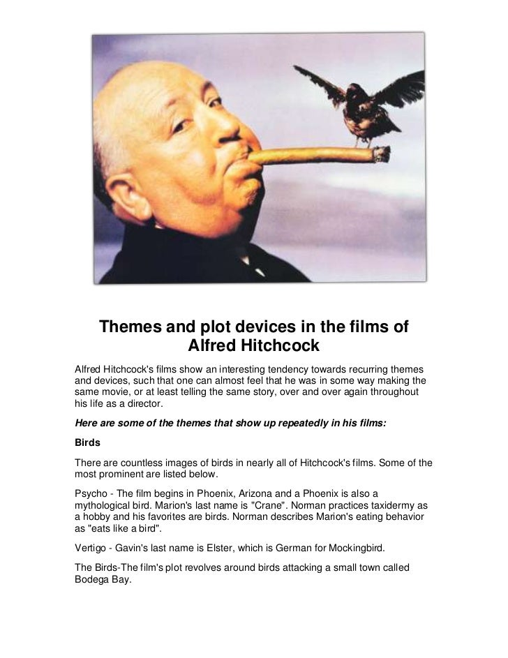 Themes and plot devices in the films of alfred hitchcock