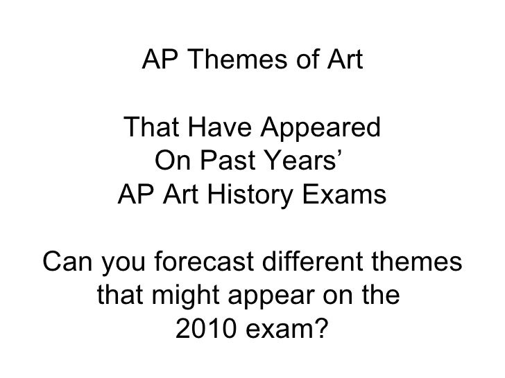ap art history practice essay questions Apfi art history 2002 slide-based multiple-choice and free-response questions these materials were produced by educational testing service fi (ets ), which develops and administers the examinations of the advanced placement.