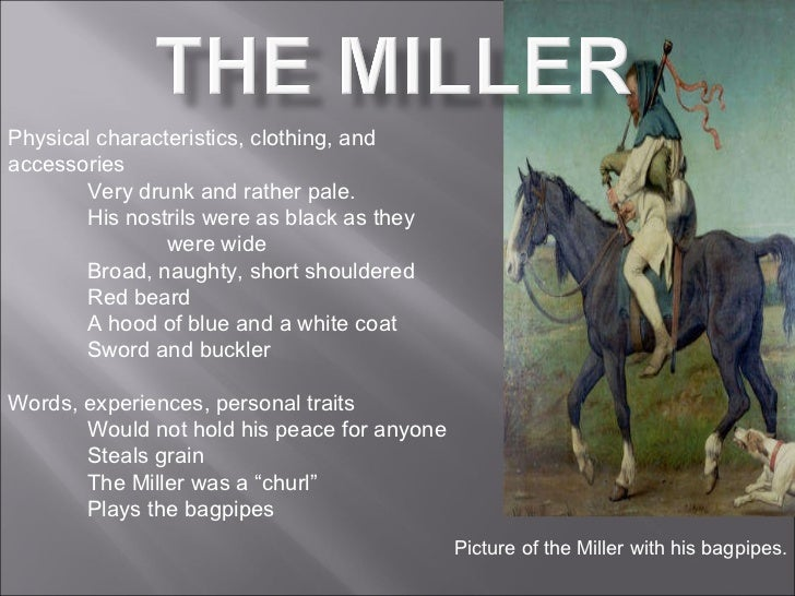 a character analysis of alison in millers tales by chaucer A true feminist perspective of geoffrey chaucer's the miller's tale you can argue that this tale in the canterbury tales is majorly anti-feminist and that there is only negative views towards women, but there is also a very large presence of pro-feminism in the character of alison.
