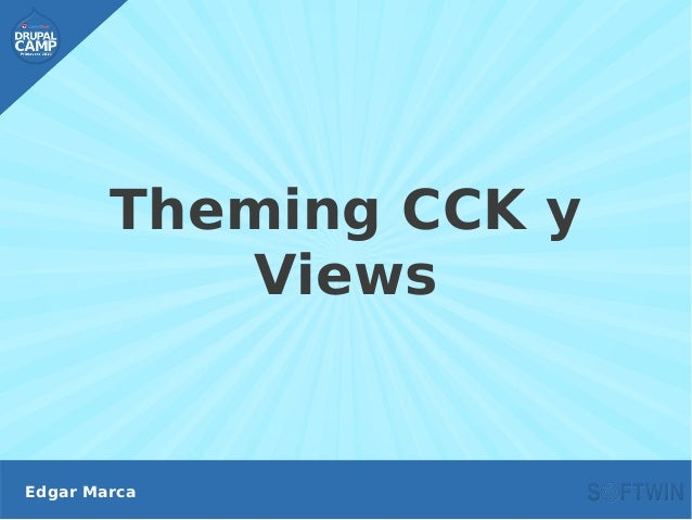 Theming CCK y Views Edgar Marca