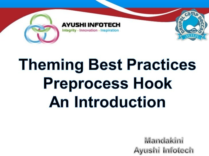 Theming best practices and preprocess by ayushi infotech