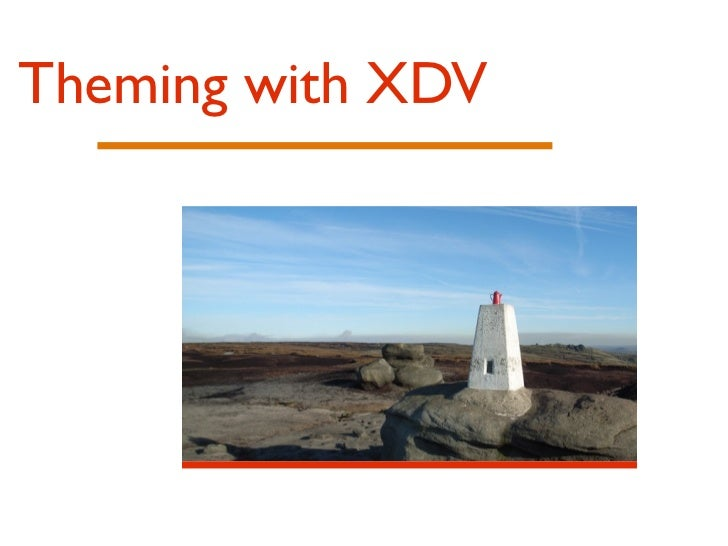 Theming with xdv