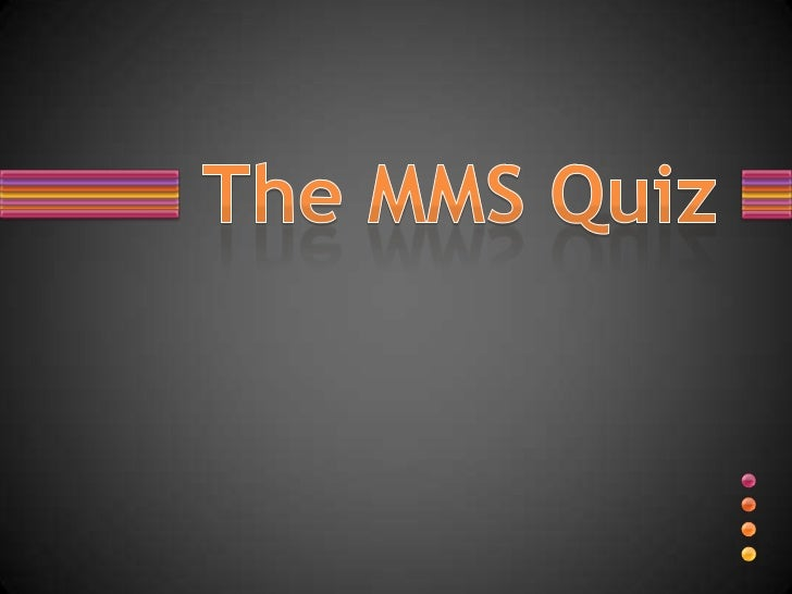 The MMS quiz prelims