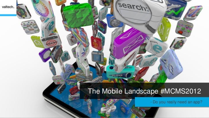 The Mobile Landscape #MCMS2012               - Do you really need an app?