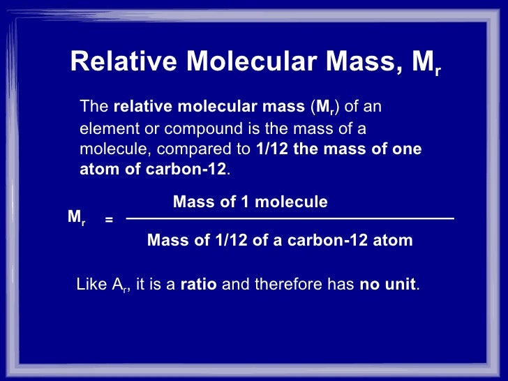 investigating how the relative molecular mass Read this science essay and over 88,000 other research documents investigating how the relative molecular mass changes in heat combustion of an alcohol:.