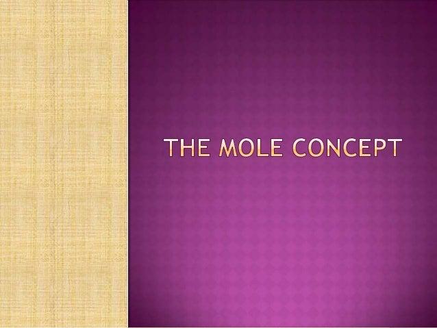 The mole concept
