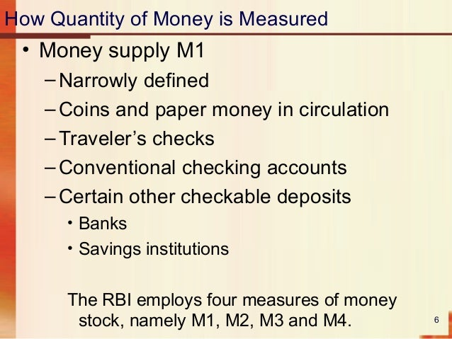 how the quantity of money is The quantity theory of money is an important tool for thinking about issues in macroeconomics the equation for the.