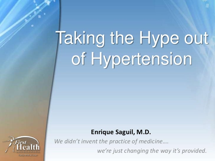 DrRic The Moorings Lecture on Hypertension (slide share edition)