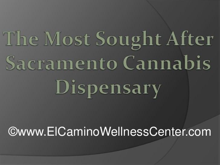 The Most Sought After Sacramento Cannabis Dispensary<br />©www.ElCaminoWellnessCenter.com<br />