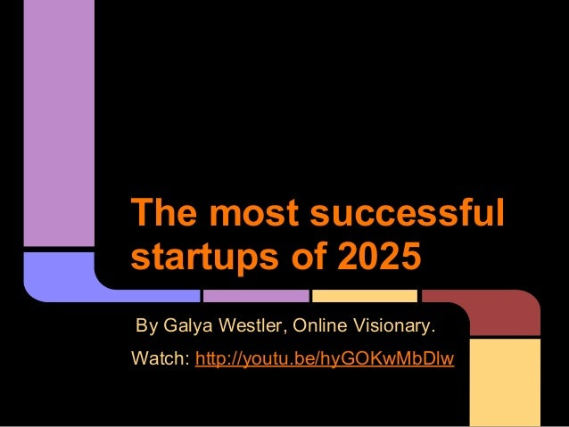 The most successful startups of 2025 (2)