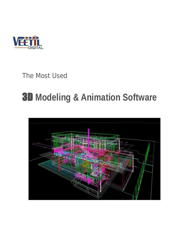 The Most Used 3d Modeling Animation Software
