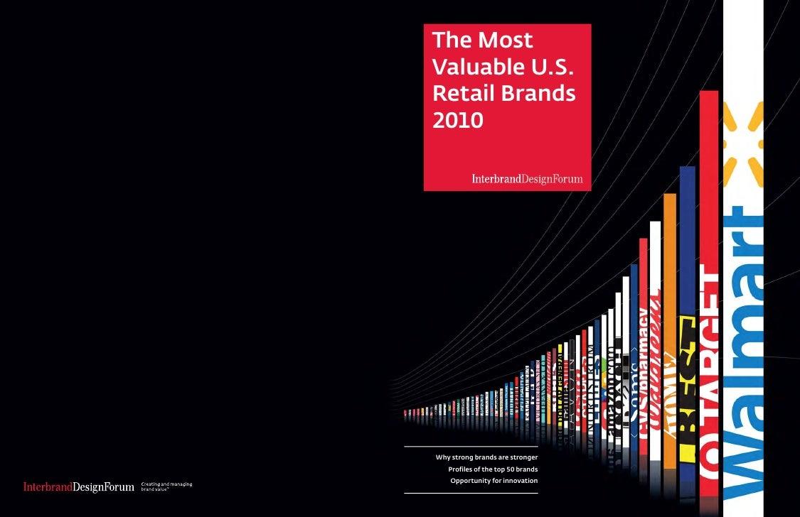 2010 : US top retail brands