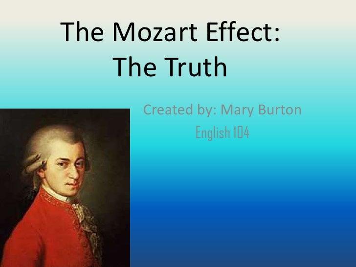 The mozart effect mary burton
