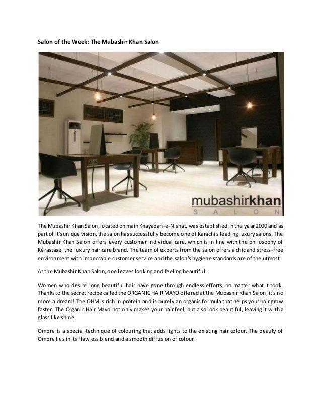 Mubashir Khan Salon The Mubashir Khan Salon