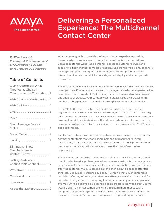 Whether your goal is to provide the best customer experience possible,increase sales, or reduce costs, the multichannel co...
