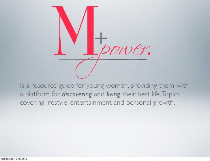 Is a resource guide for young women, providing them with               a platform for discovering and living their best li...