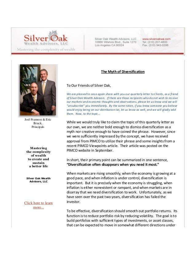Joel Framson & Eric Bruck, Principals Mastering the complexity of wealth to create and sustain a better life Silver Oak We...