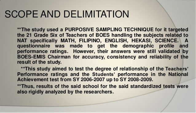 scope limitations delimitations dissertation Scope and limitations of the study guidelines in writing the scope and delimitation the scope and delimitation should include the following: 1.