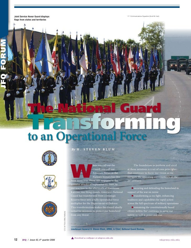 The National Guard Transforming To An Op Force