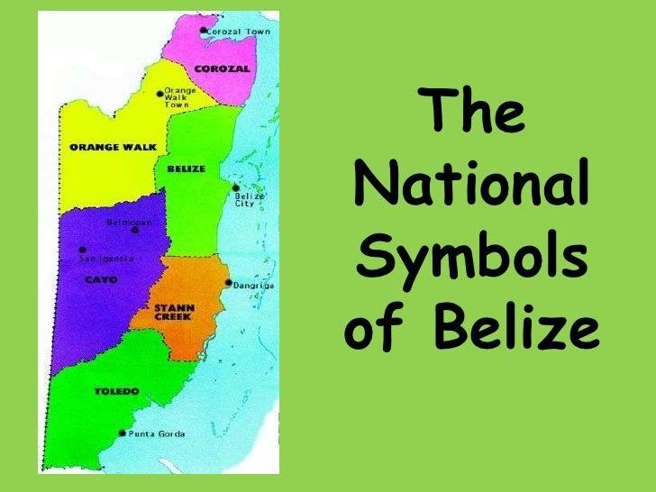 The national symbols of belize