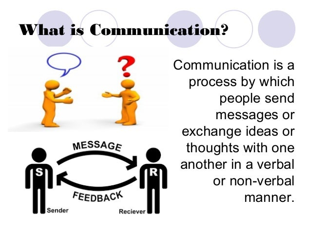 nature and process of communication The basic process of communication begins when a fact or idea is observed by   both because of their information-packed nature and the difficulty that many.
