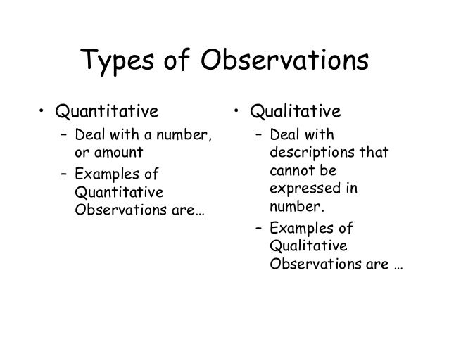 Qualitative Observation Science Definition