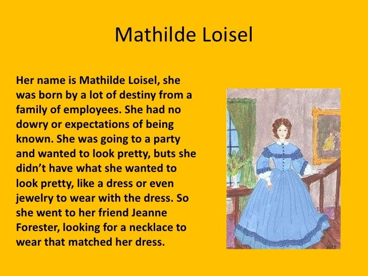 madame loisel from the necklace essay